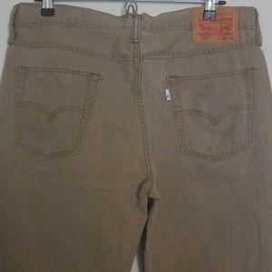 USED Men Levi Khaki Jeans